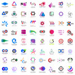 Abstract Logo Icons Set - Isolated On White Background - Vector Illustration. Collection Of Flat Icon, Logo Template, Business Sign, Website, Medical Symbol And Element Design. Abstract Modern Concept