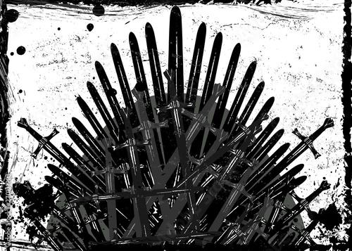 Obraz na plátně  Thrones fantasy concept