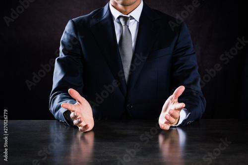 Obraz na plátně 説明するビジネスマン