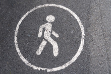 Only For Pedestrians, Road Sig...