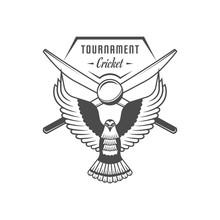 Cricket Tournament Logotype.
