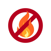 No Fire Simple Vector Icon In Flat Style