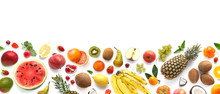Banner From Various Fruits Iso...