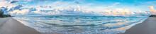 Panorama Image Of The Beach On...