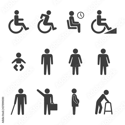 set of accessibility icon vector Canvas Print