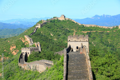Spoed Foto op Canvas Chinese Muur The Great Wall is in China.