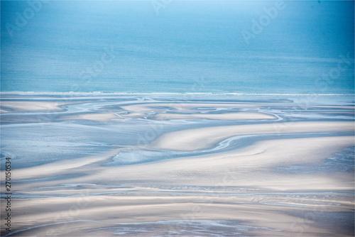 Photo sur Toile Bleu vue aérienne de al Baie de Somme en France