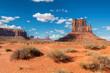 Leinwandbild Motiv The unique landscape of desert in Monument Valley, Arizona, USA.