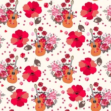 Seamless Artistic Pattern With...