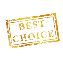 Best Choice, 2 Style Scratch Golden Rubber Stamp