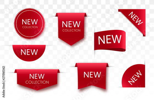Foto Tags set. Vector badges and labels