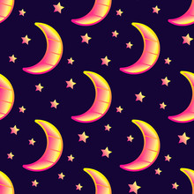 Seamless Pattern With Crescent...