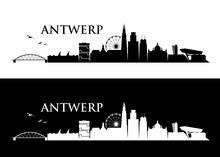 Antwerp Skyline - Belgium - Ve...