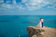 Beautiful Couple On The Sea Ro...