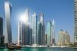 Marina Dubai im Gegenlicht
