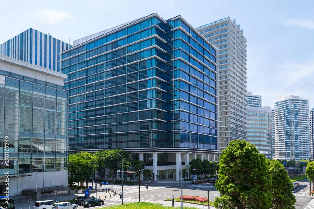 Fototapety, obrazy: (神奈川県ー都市風景)横浜みなとみらいのオフィスビル群6