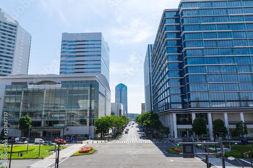 Fototapety, obrazy: (神奈川県ー都市風景)横浜みなとみらいのオフィスビル群5