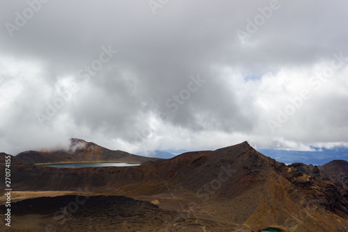 Photo  Landscape view of colorful Emerald lakes and volcanic landscape, Tongariro natio