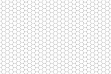 Black And White Hexagon Honeycomb Seamless Pattern