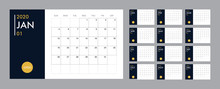 Calendar 2020 Template Planner Vector Diary In A Minimalist Style