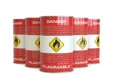 Flammable Substance Red Barrel...