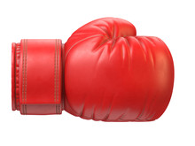 Red Boxing Glove Isolated On W...