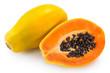 Leinwandbild Motiv Fresh papaya on white background