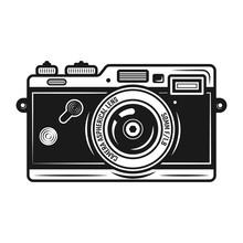 Retro Photo Camera Vector Vintage Object Isolated