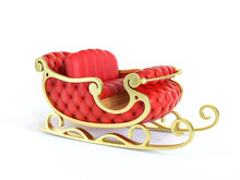 Christmas Santa Sleigh  - Red ...