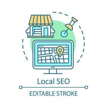 Location SEO Concept Icon