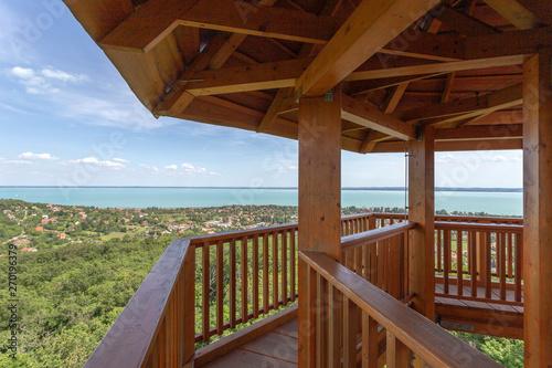 Photo  Lake Balaton from the Somlyo mountain