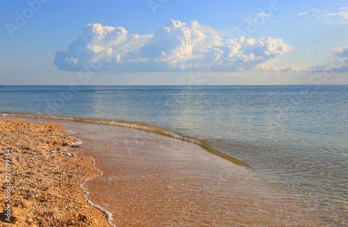 Obraz na plátne  morning landscape on sea