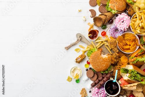 Fotografia Fast food dish on white background