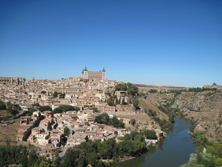 Fototapeta na wymiar panoramic view of toledo spain