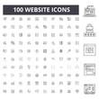 Website line icons, signs, vector set, outline concept illustration