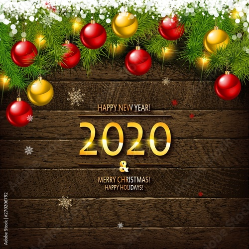 Merry Christmas Images 2020.2020 Happy New Year And Merry Christmas Buy This Stock