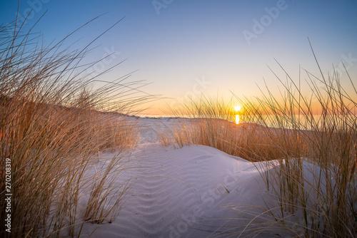 Fototapeta Zachód słońca na plaży obraz