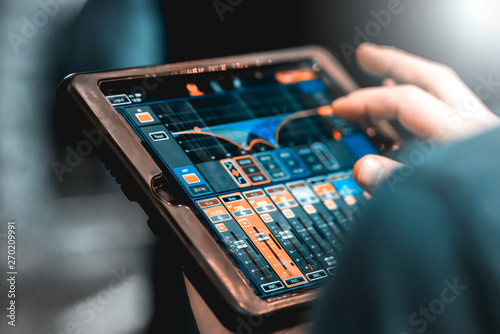 Touch tablet with remote control