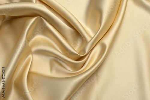 Milk-colored taffeta silk fabric artistic layout Canvas Print