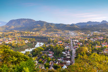 Top View Of Luang Prabang City...