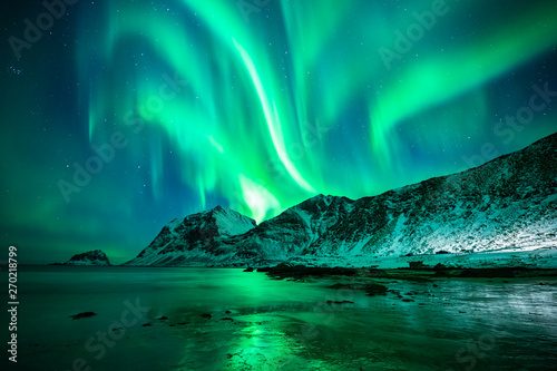 Wall Murals Northern lights Aurora Borealis Lofoten