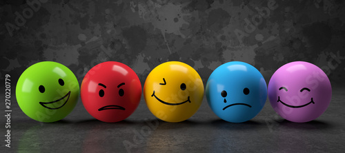 3D Illustration Emotionen Canvas-taulu