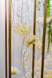 wedding arch close-up. Wedding accessories. white flowers decor