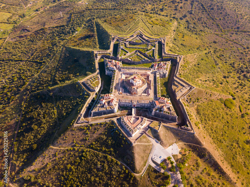 Panoramic landscape of fortress of Nossa Senhora da Graca in Elvas Wallpaper Mural