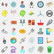 Car garage icons set. Cartoon style of 36 car garage vector icons for web for any design