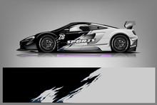 Sport Car Wrap Design Vector, ...