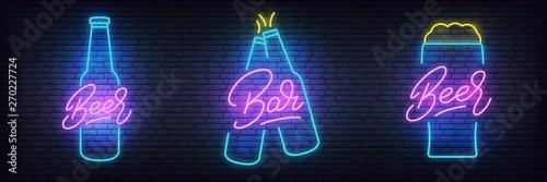 Tableau sur Toile Beer neon set