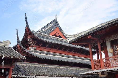 Valokuva  Roof of Dacheng Hall in Confucius Temple, Nanjing, Jiangsu Province, China