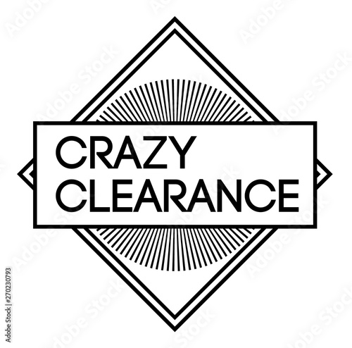 CRAZY CLEARANCE stamp on white background Canvas Print