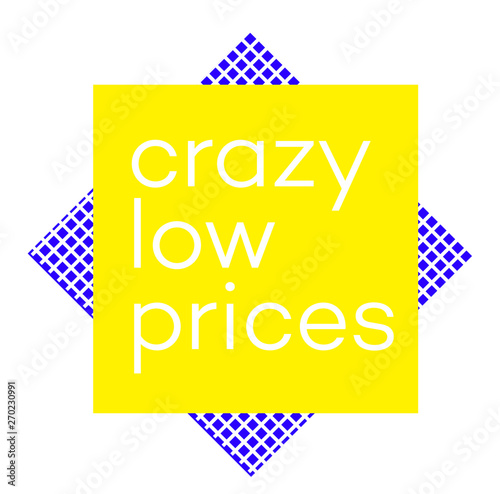 CRAZY LOW PRICES stamp on white background Canvas Print